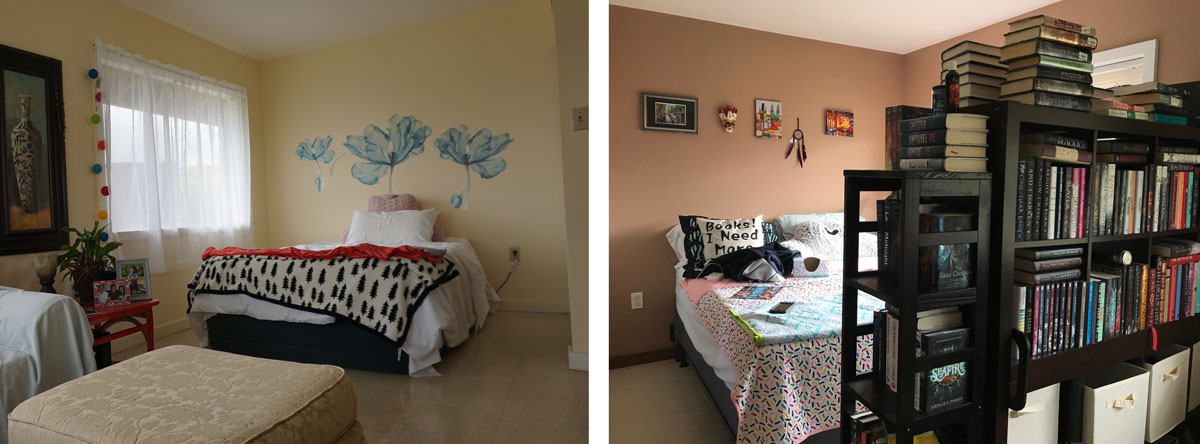 Annie O'Brien and Heather Luster's 500-square-foot studio apartment. Photos courtesy of Ku'u Kauanoe, Suevon Lee, and Cory Lum from Honolulu Civil Beat.