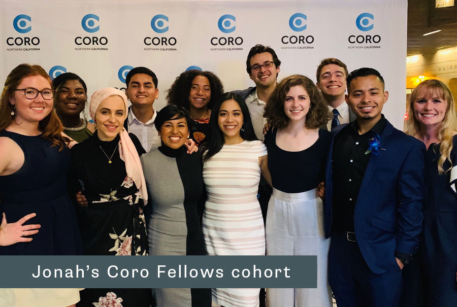 Jonah and his Coro Fellows cohort