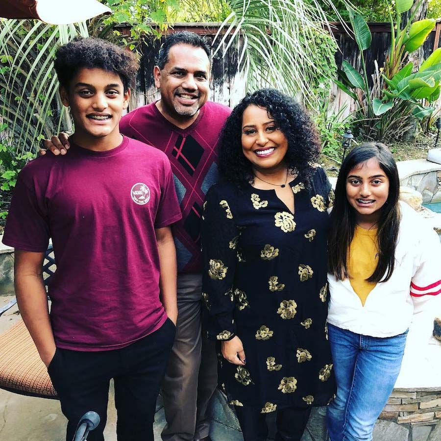 Sam and Bindu Xavier with their two children